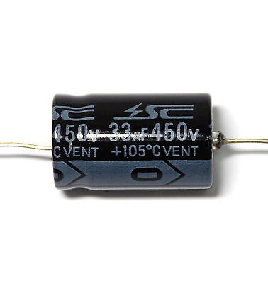 105C 2000Hr 1 Piece GHA Electrolytic Capacitors 150uF 450V Axial- SC Brand