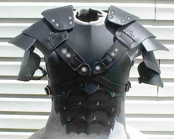 leather medieval gladiator theatrical celtic Armor LARP SCA viking Roman armour