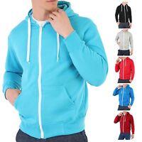 Mens Zip Up Plain Tracksuit Hoody Hoodie Hooded Top Jacket Sweatshirt Sport