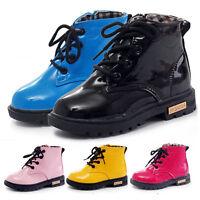 Kinder Mädchen Winter Warm Schuhe Martin Boots Gefüttert Stiefel Shoes Gr.21-37