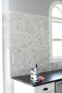 Carrara-Marble-Large-Hexagon-Mosaic-Floor-Wall-Tiles-Only-135-m2