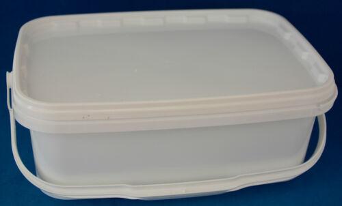 3600 ml en plastique blanc inviolable Tubes avec couvercles /& poignées 1-15 multi annonce