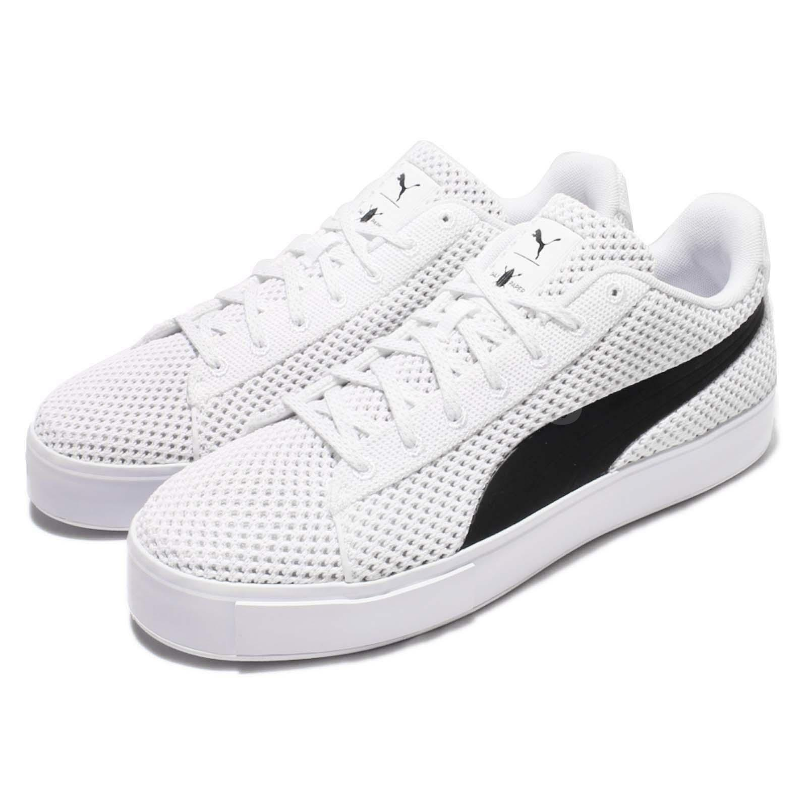 Puma X DP Court Platform K Daily Paper blanco negro Men Casual zapatos 363457-02