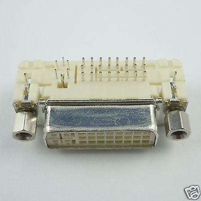1Pcs Molex DVI 24+5 Female Right Angle PCB Mount Connector Adapter