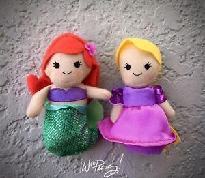 2016-Disney-Cute-Princess-Plush-Finger-Puppets-Ariel-amp-Rapunzel