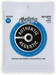 3-PACK-Martin-MA150-Authentic-Acoustic-SP-80-20-MEDIUM-Guitar-Strings-MA150PK3