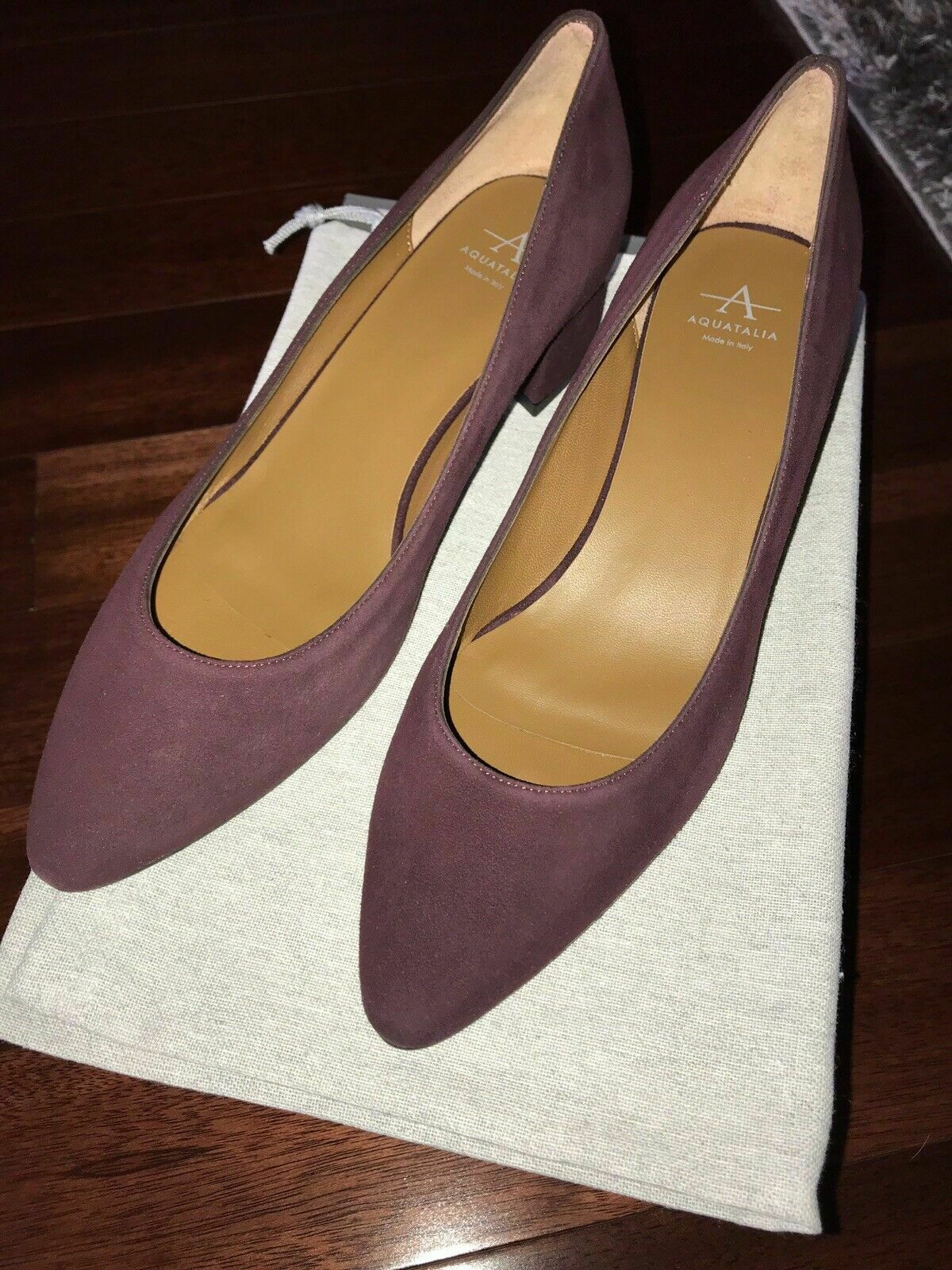 NWB AQUATALIA PHEOBE Suede Oxblood Pumps  Heels shoes sz 7.5