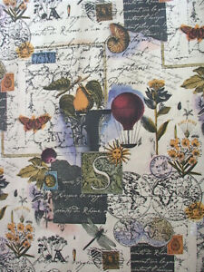 "Provence Gift Wrap - Collage Print Wrapping Paper - 30"" x 5' Roll"