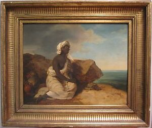 ANTIQUE-EARLY-19th-CENTURY-AUSTRIAN-PETER-FENDI-AFRICAN-SLAVE-VENICE-PAINTING
