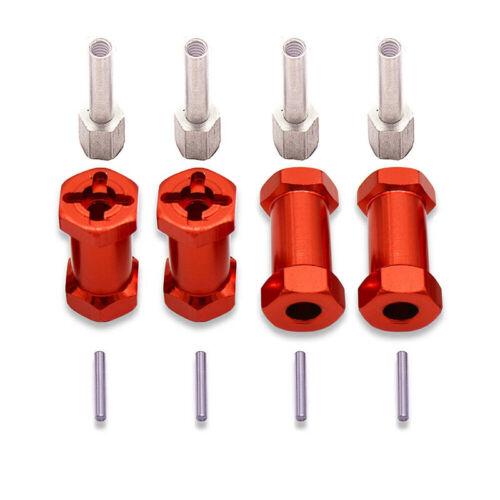 Metal12mm Wheel Hub Hex Drive Adaptor Extension Offset For 1//10 RC Crawler