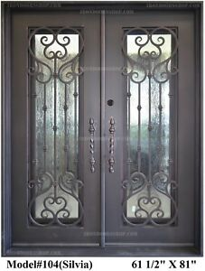 Details About Silvia Wrought Iron Double Doors Operable Gl With Pulls