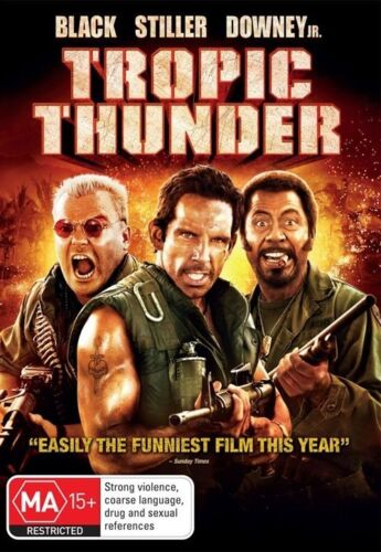 1 of 1 - Tropic Thunder (2008) Ben Stiller - NEW DVD - Region 4