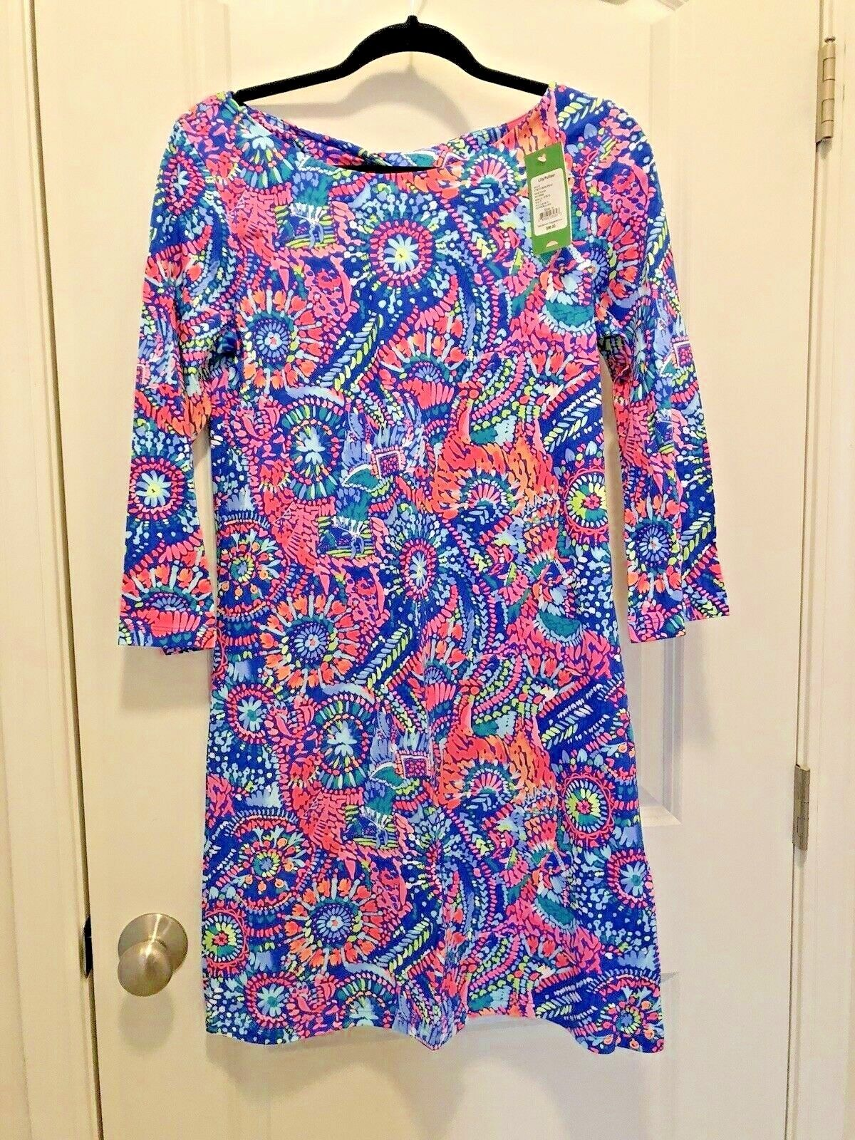 NWT Lilly Pulitzer Bay Dress No Prob llama Medium M