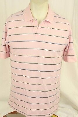 Medium Austin Reed Golf Polo Shirt Mens Regular Rugby Short Sleeve Striped Pink Ebay