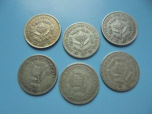 South-Africa-6-Sixpences-earliest-1929-in-OK-Condition