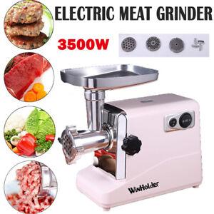 3500W Electric Big Size Meat Grinder Mincer Sausage Maker Kitchen Food Mincing