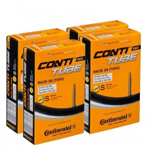 3 x Continental RACE 28 700c 18//25 inner tube 80mm valve 700c long valve presta