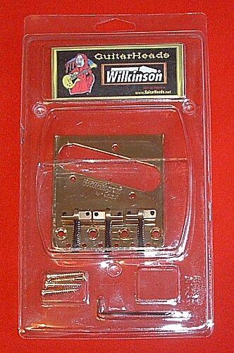 Brass Saddle Guitar Parts WILKINSON Bridge GOLD WTB Telecaster