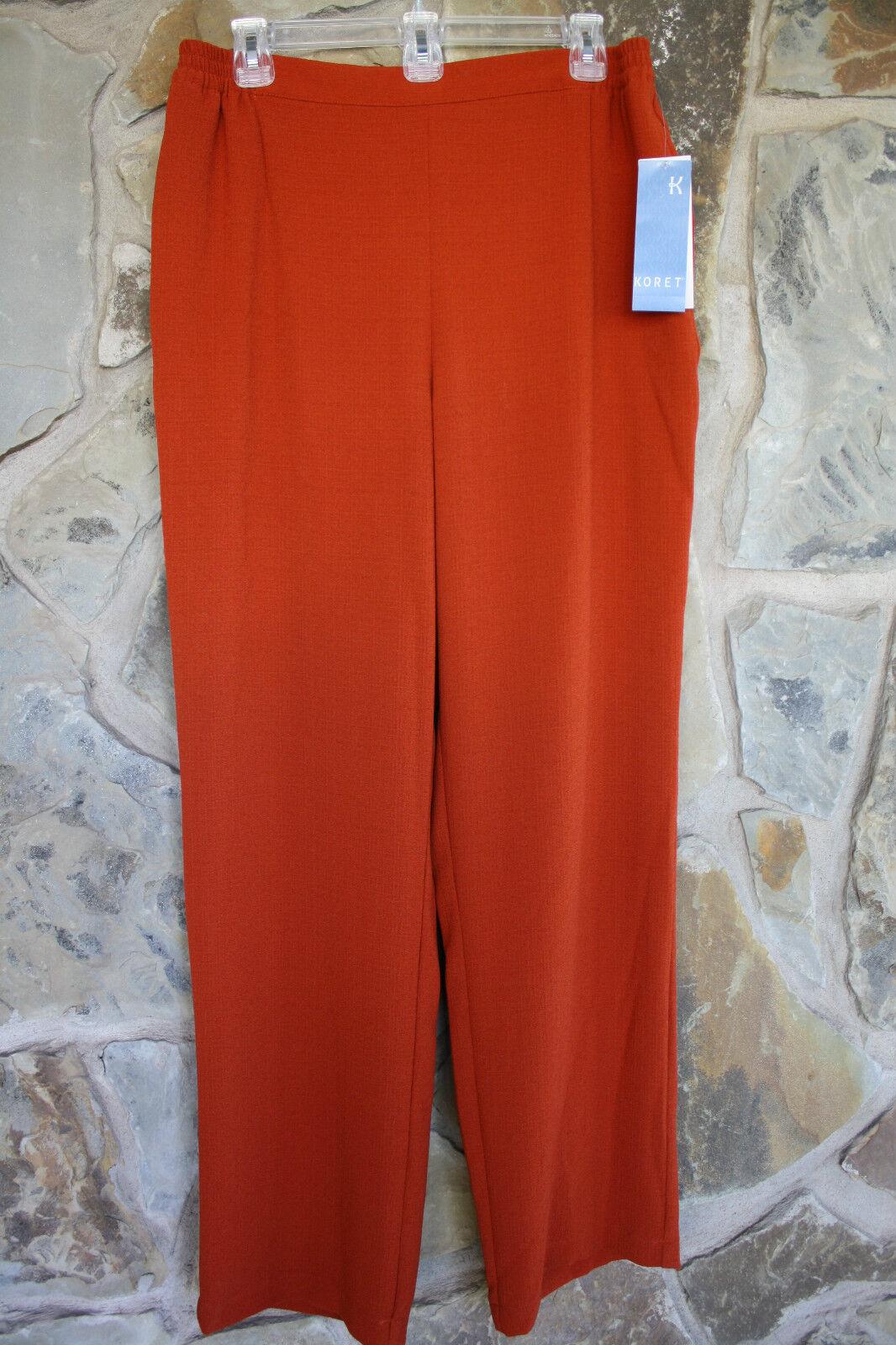 Koret Hose Größe 12 comfort stretch NWT copper