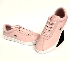 Lacoste-Masters-Sneaker-Damen-Leder-Wildleder-Leder-Rosa-Gr-40-5-37SFA00442E5
