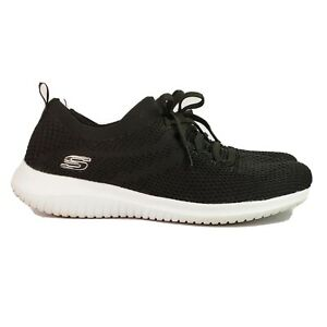 Skechers-size-10-M-black-stretch-mesh-sneakers-Air-Cooled-Memory-Foam-Ultra-Flex