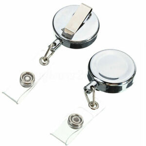 5-10-25-Retractable-Metal-Reel-Badge-ID-Holder-Belt-Clip-Recoil-Name-Key-Ring