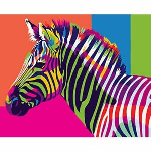 Colorful Zebras Couple Paint By Numbers Kits DIY Number Canvas Painting Hand