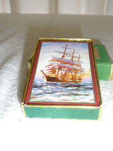 Vintage CONGRESS Playing Cards Single Deck Pinochle Sailing Ship at Sea