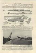 1921 Opening New Albert Dock Extension Photos Cross Sections Jetty Sheds