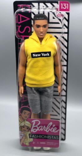 Barbie Ken Fashionistas 131 Doll New York Hoodie Hispanic Broad Body Boy Yellow