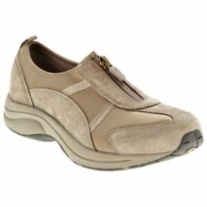 EASY-SPIRIT-WALK4ZIP-SLIP-ON-SHOES-DARK-TAUPE-SIZE-9-W