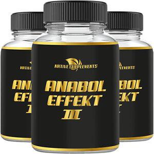 Anabol effect 3 Testosterone Booster muscolare estremamente anabolizzanti testo capsule