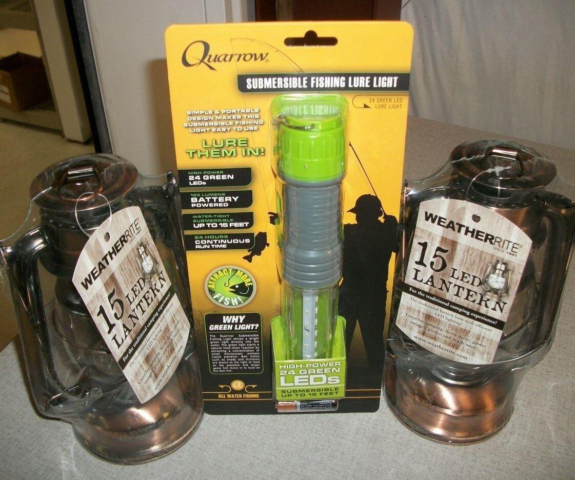 Quarrow Submersible LED Fishing Light w  2 Weatherrite LED  Lanterns  5572 6063  special offer