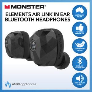 Details about Monster Elements Air Link Bluetooth Wireless In Ear  Headphones Pods Earphones