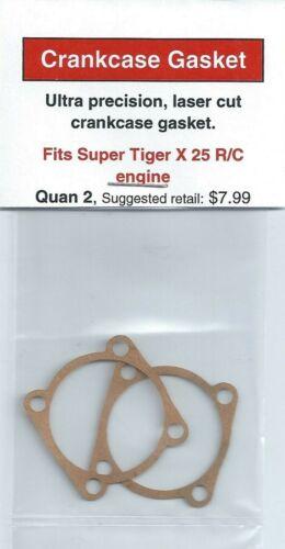 Tigre X 25 R//C Crankcase Gasket 2 Pack NIP Super Tiger