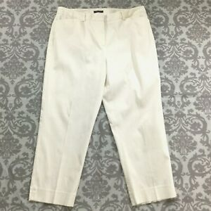 Jones-New-York-Womens-Pants-size-16-new-Off-White-Capris-Cropped-Ankle-Stretch