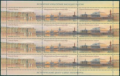 RUSSIA 2013 Full Sheet Historical centre of St.Petersburg Architecture MNH