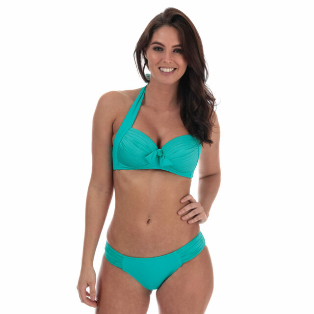Seafolly Womens Twist Front Soft Cup Halter Bikini Top Swimsuit