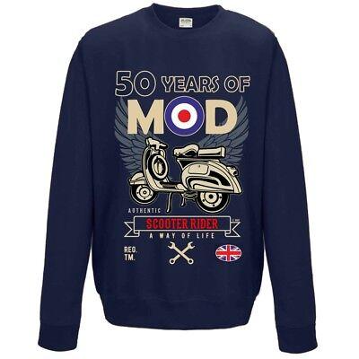 Mens Womens Mod Target Retro scooter RAF Sweater jumper Sweatshirt NEW S-XXL