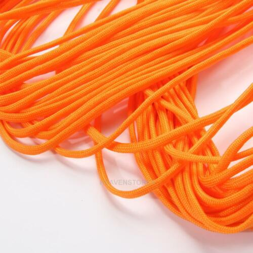 100FT 550  Type III 7 Paracord Parachute Cord Rope Lanyard Mil Spec Strand Core