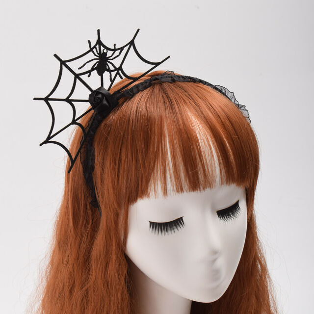 Halloween Fancy Dress Spider Hairpin Party Costume Spider Web Hair Clip Hairband