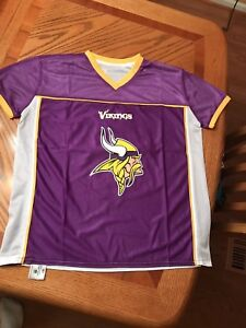 cd6620446 Minnesota Vikings NFL Flag Football Jersey Adult Med. NEW Never Worn ...