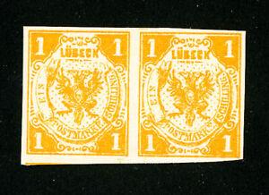 Lubeck-Stamps-2-Superb-OG-NH-Pair-Scott-Value-950-00