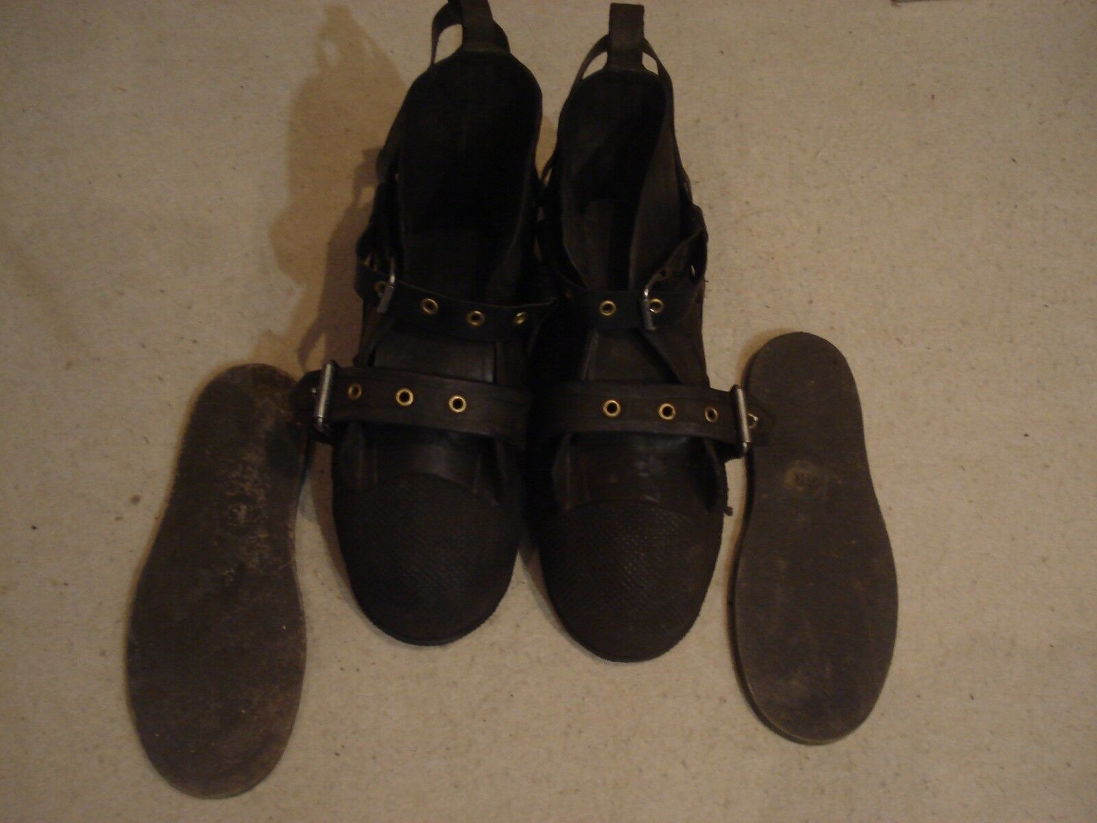 USSR Soviet Russian rubber diving boots for drysuit