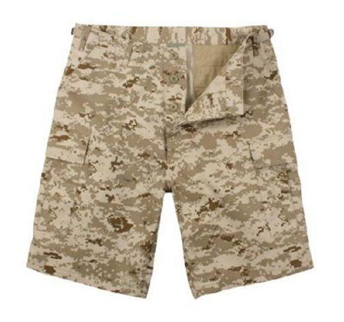 US DESERT USMC DIGITAL ARMY CAMOUFLAGE COMBAT BERMUDA SHORT SHORTS XXL