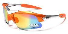 Herren Orange & Silber XLOOP 1/2 Mit rand Umwickeln Sport Sonnenbrille inklusive