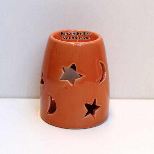 Tart Burner Duftlampe Sonne-Mond-Sterne orange