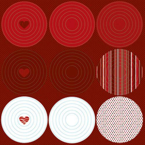 Reminisce BE MINE NESTED CIRCLE FRAMES 12x12 GLITTER Sticker Sheet
