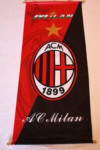 Soccer A.C Milan Football Club Long Hanging Banner Rossoneri Pennant Italy NEW