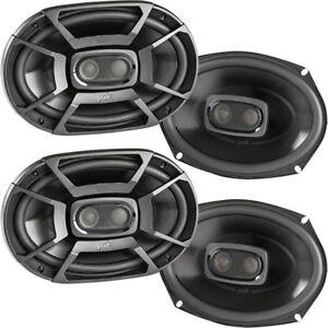 4-Polk-DB692-150W-RMS-6-034-x-9-034-Marine-Certified-Coaxial-Car-Speakers-2-Pairs